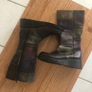 Vintage Dr. Marten Patchwork Tall Boots size 6